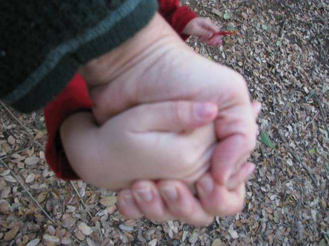 it helps to hold hands