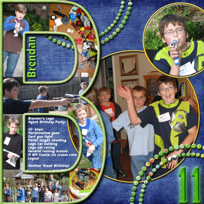 Brendan's 11 Birthday--Lego Agent